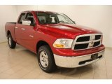 2009 Inferno Red Crystal Pearl Dodge Ram 1500 SLT Quad Cab 4x4 #38795402