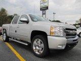 2011 Sheer Silver Metallic Chevrolet Silverado 1500 LT Crew Cab #38794925