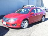 2011 Red Candy Metallic Ford Fusion SE #38794529