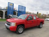 2008 Victory Red Chevrolet Silverado 1500 LS Extended Cab 4x4 #38917324