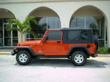 2006 Flame Red Jeep Wrangler Unlimited 4x4 #376656