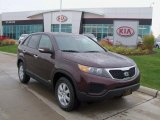 2011 Dark Cherry Kia Sorento LX AWD #38918028