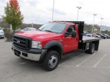 2007 Ford F550 Super Duty XL Regular Cab Flat Bed Front 3/4 View