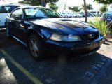 2002 True Blue Metallic Ford Mustang V6 Coupe #38917120