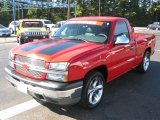 2005 Victory Red Chevrolet Silverado 1500 Regular Cab #38918127