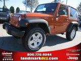 2011 Mango Tango Pearl Jeep Wrangler Sport S 4x4 #38917488