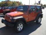 2011 Mango Tango Pearl Jeep Wrangler Sport S 4x4 #38918167