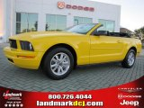2006 Screaming Yellow Ford Mustang V6 Deluxe Convertible #38917500