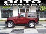 2010 Red Rock Crystal Pearl Jeep Wrangler Sahara 4x4 #38917808