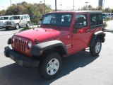 2011 Flame Red Jeep Wrangler Sport 4x4 #38918171
