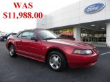 2000 Laser Red Metallic Ford Mustang V6 Convertible #38917510