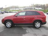 2011 Spicy Red Kia Sorento LX AWD #38917239