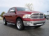 2011 Deep Cherry Red Crystal Pearl Dodge Ram 1500 Laramie Quad Cab 4x4 #38917906
