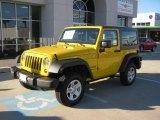 2011 Detonator Yellow Jeep Wrangler Sport 4x4 #39006400