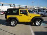2011 Jeep Wrangler Detonator Yellow