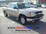 2005 Sandstone Metallic Chevrolet Silverado 1500 Z71 Crew Cab 4x4 #39006424