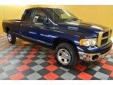 2004 Patriot Blue Pearl Dodge Ram 1500 SLT Quad Cab 4x4 #39006443