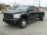 2007 Brilliant Black Crystal Pearl Dodge Ram 3500 Sport Quad Cab 4x4 Dually #39006273