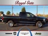 2008 Brilliant Black Crystal Pearl Dodge Ram 1500 Laramie Quad Cab 4x4 #39006107