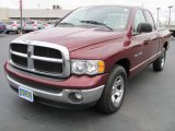 2003 Dark Garnet Red Pearl Dodge Ram 1500 SLT Quad Cab #39060129