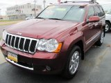 2008 Red Rock Crystal Pearl Jeep Grand Cherokee Overland 4x4 #39060130