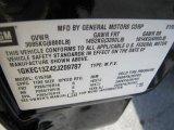 2002 GMC Yukon SLT Info Tag