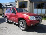 2002 Inferno Red Tinted Pearlcoat Jeep Grand Cherokee Overland 4x4 #39059814