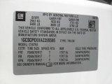 2010 Chevrolet Silverado 1500 Extended Cab Info Tag