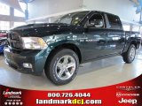 2011 Hunter Green Pearl Dodge Ram 1500 Laramie Crew Cab #39059462