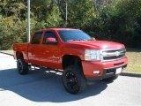 2009 Victory Red Chevrolet Silverado 1500 LTZ Crew Cab 4x4 #39060286