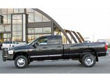 2007 Brilliant Black Crystal Pearl Dodge Ram 3500 Laramie Quad Cab 4x4 Dually #39123389