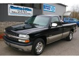 2002 Onyx Black Chevrolet Silverado 1500 LS Regular Cab #39123240