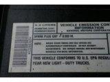 2002 Chevrolet Silverado 1500 LS Regular Cab Info Tag