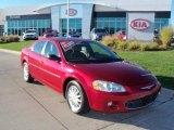 2003 Inferno Red Tinted Pearl Chrysler Sebring LXi Sedan #39123462