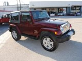 2008 Jeep Wrangler Red Rock Crystal Pearl