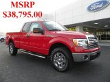 2010 Vermillion Red Ford F150 XLT SuperCab 4x4 #39148678