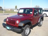 2011 Deep Cherry Red Crystal Pearl Jeep Wrangler Sport 4x4 #39148688