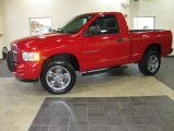 2005 Flame Red Dodge Ram 1500 SLT Regular Cab 4x4 #39148735