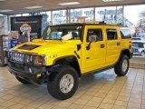 2003 Yellow Hummer H2 SUV #3911956