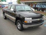 2002 Onyx Black Chevrolet Silverado 1500 LS Extended Cab 4x4 #39258654