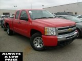 2010 Victory Red Chevrolet Silverado 1500 LT Extended Cab 4x4 #39258232