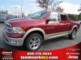 2011 Deep Cherry Red Crystal Pearl Dodge Ram 1500 Laramie Crew Cab #39258542