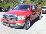 2007 Flame Red Dodge Ram 1500 Big Horn Edition Quad Cab #39259143