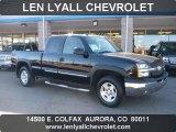 2004 Black Chevrolet Silverado 1500 Z71 Extended Cab 4x4 #39325707