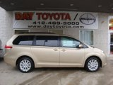 2011 Sandy Beach Metallic Toyota Sienna LE AWD #39325576