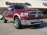 2011 Deep Cherry Red Crystal Pearl Dodge Ram 1500 Laramie Crew Cab 4x4 #39388343