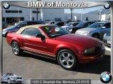 2005 Redfire Metallic Ford Mustang V6 Premium Convertible #39388186