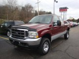 2004 Dark Toreador Red Metallic Ford F250 Super Duty XLT SuperCab 4x4 #39388089