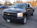 2008 Black Chevrolet Silverado 1500 Work Truck Extended Cab #39387917