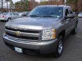 2008 Graystone Metallic Chevrolet Silverado 1500 LS Crew Cab #39387921